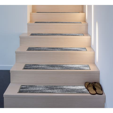 Distressed Abstract Non-Slip Stair Treads