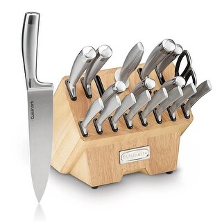 Cuisinart C77SS-19P Normandy 19 Piece Cutlery Block Set, Stainless Steel