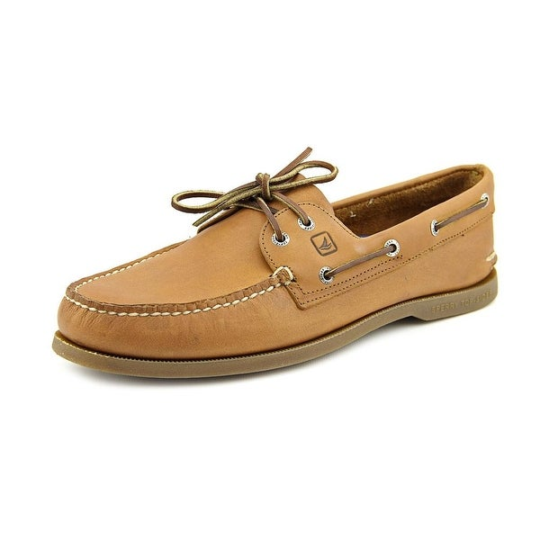 Sperry Top Sider A/O 2 Eye Men Moc Toe Leather Brown Boat Shoe