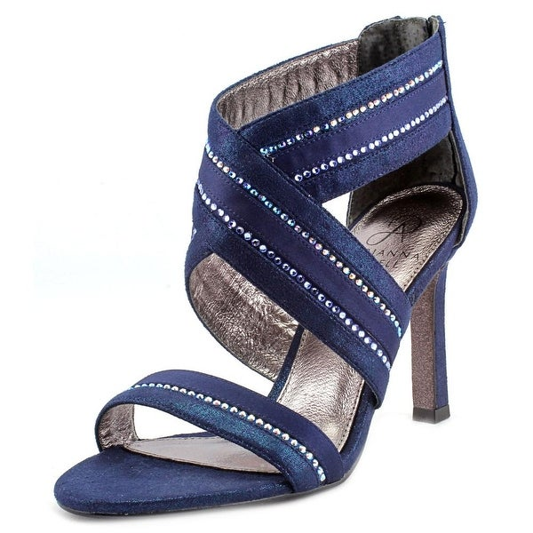 Adrianna Papell Evonne Women Open Toe Synthetic Blue Sandals