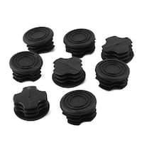 Unique Bargains Black Plastic 32mm Dia Round Tubing Tube Insert Caps Covers 8 Pcs