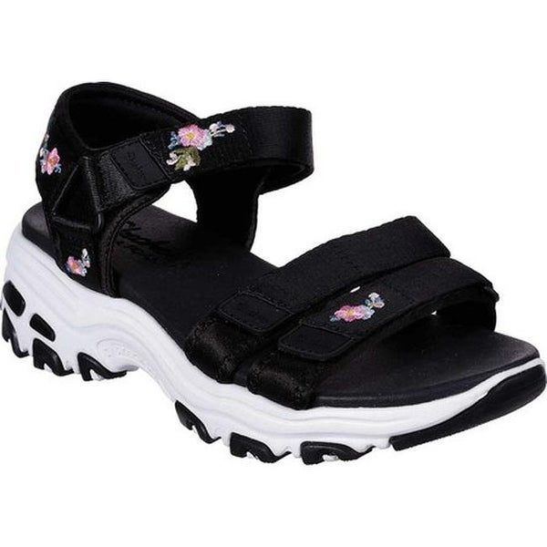 Shop Skechers Women's D'Lites Awesome Blossom Ankle Strap