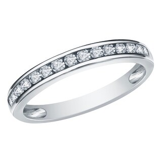Prism Jewel 0.45CT Channel Set 1.90MM Round Natural Diamond Anniversary Band