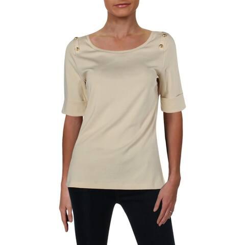 Lauren Ralph Lauren Womens T-Shirt Short Sleeves Crewneck