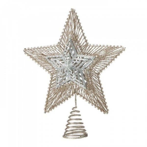 Mixed Metallic Star Tree Topper