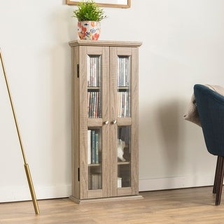Link to 41-inch Tall 2-Door Media Storage Cabinet Similar Items in Horizontal Shelves