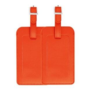 2pcs Travel Luggage Tag PU Leather Suitcase Baggage Bag Name Address ID Label