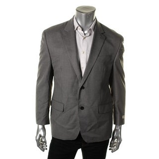 MICHAEL Michael Kors Mens Two-Button Suit Jacket Checkered Notch Lapel