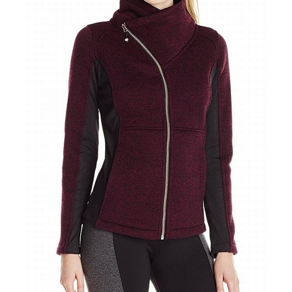 Betsey Johnson NEW Red Black Women's Size Large L Full Zip Jacket