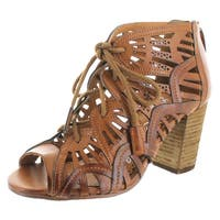 Naughty Monkey Selly a Lennon Chunky Sandal Heels