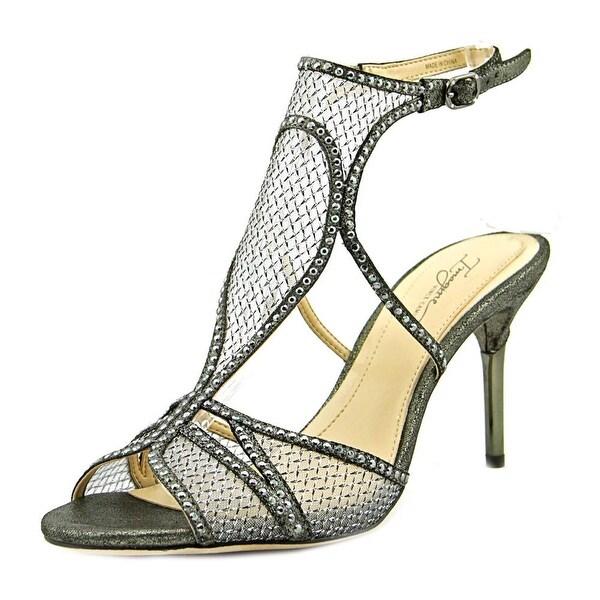 Imagine Vince Camuto Pember Women Open Toe Suede Black Sandals