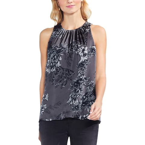 Vince Camuto Womens Shell Floral Pleated