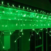 "Wintergreen Lighting 15241 Mini Icicle Lights with 4"" Spacing and White Wire"