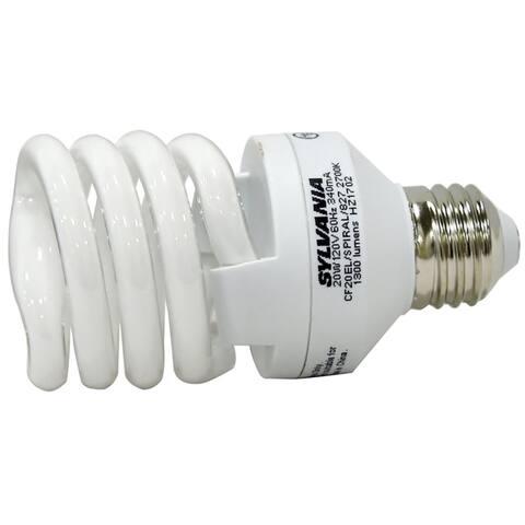 Sylvania 26348 T2 Spiral Compact Flourescent Light Bulbs, 20 Watts
