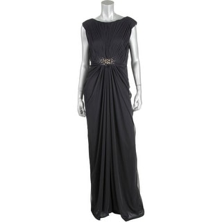 Adrianna Papell Womens Mesh Embellished Evening Dress - 12