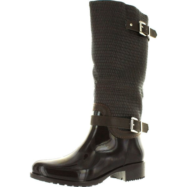 Forever Link Women's Clara-31 Motorcyle Quilted Buckle Boots