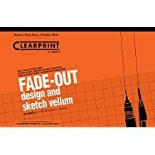 "Clearprint - Design and Sketch Pad - 10x10 Grid - 11"" x 17"""