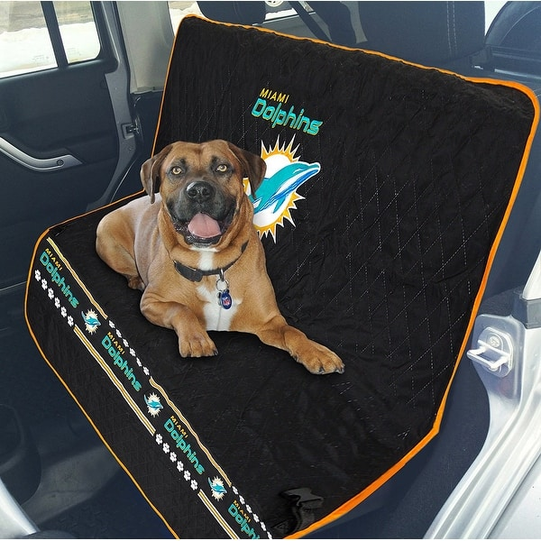 Cool Shop Pets First Nfl Miami Dolphins Pet Car Seat Cover Free Pabps2019 Chair Design Images Pabps2019Com