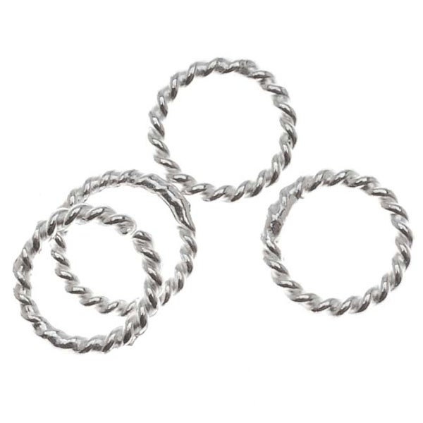 Sterling Silver Closed Jump Rings Twisted 6mm 20 Gauge (10)