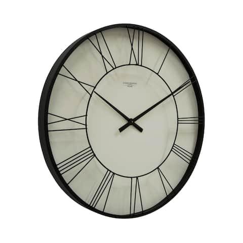 "Offex Large 30"" Modern Wall Clock with Quartz Movement - Black"