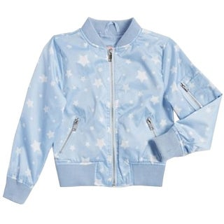 1b93ac824 Shop Urban Republic Girls Blue Star Pattern Weather-Resistant Flight Jacket  - Free Shipping On Orders Over $45 - Overstock - 28126389