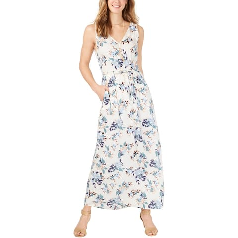 Lucky Brand Womens Floral Maxi Dress, White, X-Small