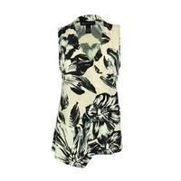 INC International Concepts Women's Floral Print Surplice Top - floral brush - pl