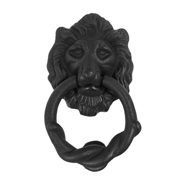 Iron Lion Door Knocker Matte Finish 6 H x 3-3/4 W | Renovator's Supply