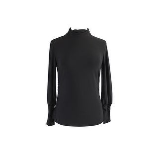 Alfani Black 3/4-Sleeve Turtleneck Sweatshirt 8