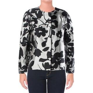 Weekend MaxMara Womens Basic Jacket Printed Collarless - 6
