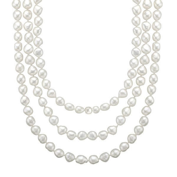 Honora Baroque 60-Inch 5-6MM Freshwater Pearl Rope Necklace