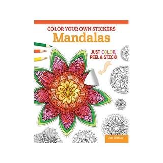 Design Originals Color Your/Sticker Mandalas Bk