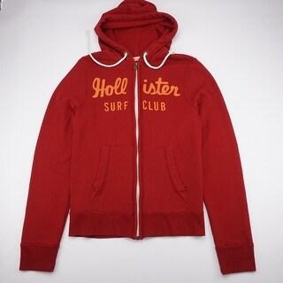HOLLISTER Surf Club SpellOut Full Zip Hoodie Sweatshirt LngSlv Youth L