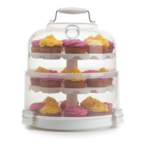 Progressive PL8 Cupcake Carrier & Display, Holds 24 Cupcakes