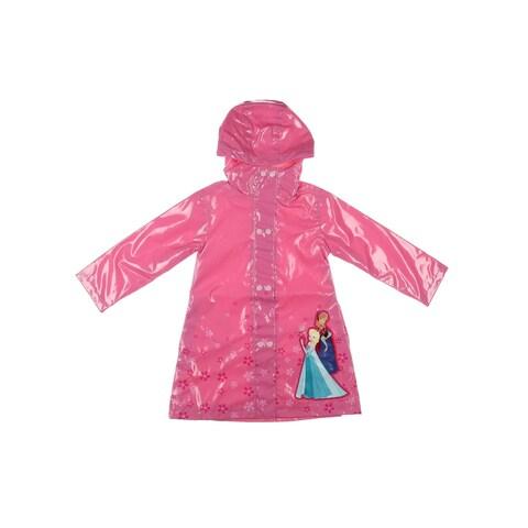 Disney Frozen Raincoat Floral Print Long Sleeves