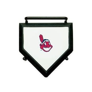 Cleveland Indians MLB Baseball Set of 4 Mini Home Plate Coasters w/ Stand