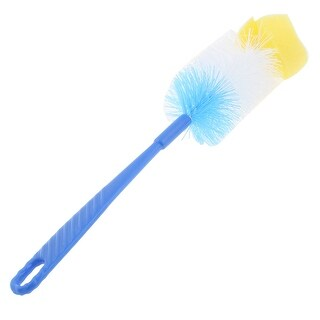 Kitchen Glass Cup Washing Cleaning Bottle Brush Tool Blue Yellow