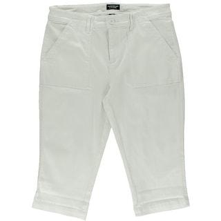 American Living Womens Solid Flat Front Bermuda Shorts - 16