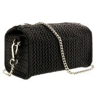 HS1152 NR PIA Black Leather Wristlet/Crossbody Bag - 7-4-4