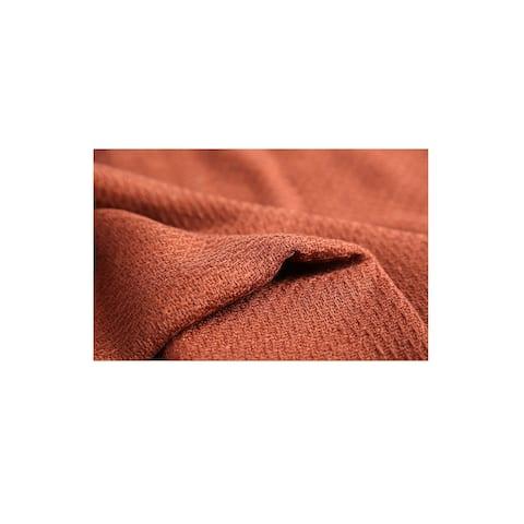 Women Shawl Wrap Scarf Winter Warm Tasseled Fringe Pashmina Soft Red - 55 1/8 x 52 3/4