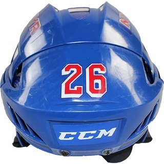 Jarret Stoll New York Rangers 20152016 Season Game Used 26 CCM V8 Royal Helmet