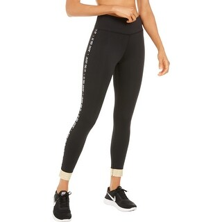 Link to Nike Womens Athletic Leggings Running Fitness - Black/White/Gold Similar Items in Athletic Clothing