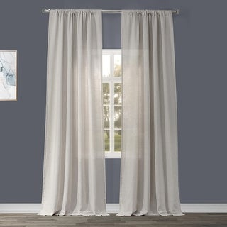 Link to Exclusive Fabrics Signature French Linen Curtain Panel Similar Items in As Is