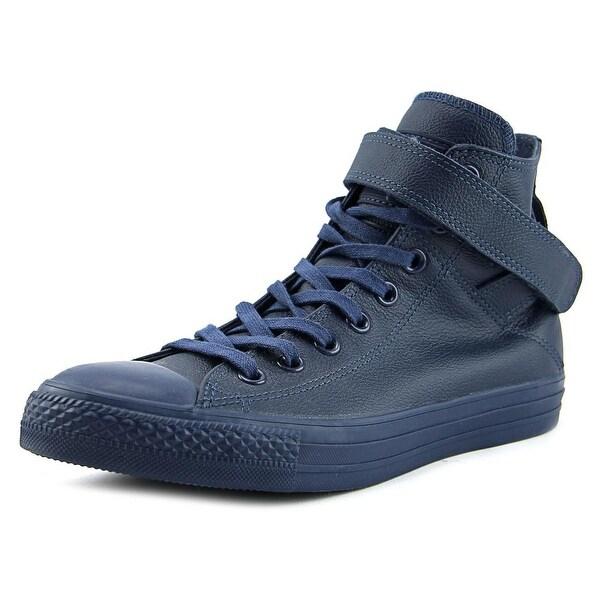 Shop Converse Chuck Taylor Brea Hi Women Round Toe Leather Blue ... cf4b6b475