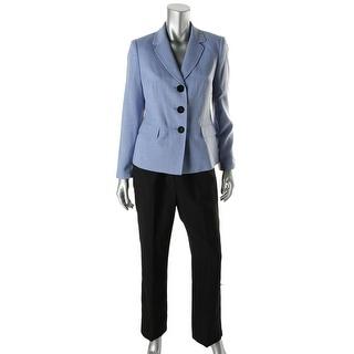 Le Suit Womens Petites English Gardens Textured Two Tone Pant Suit - 16p