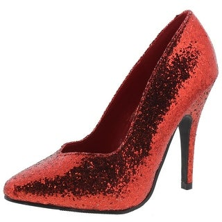 Ellie Womens Pumps Glitter Pointed Toe