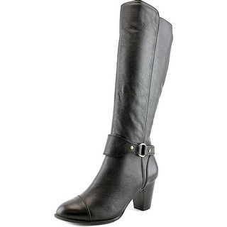 Giani Bernini Cagney Women  Round Toe Leather Black Knee High Boot