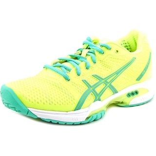 Asics Gel-Solution Speed 2 Clay Women Round Toe Synthetic Yellow Running Shoe