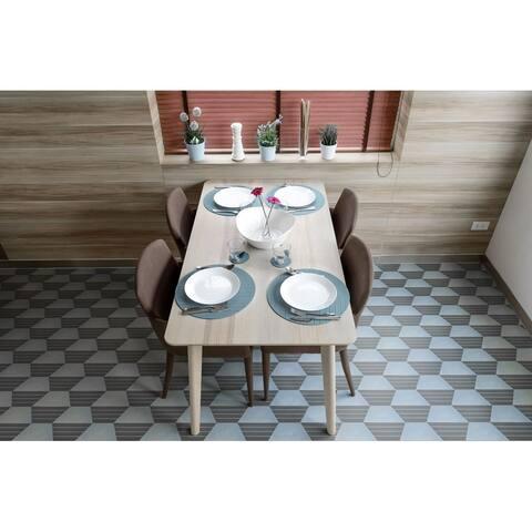 7x8 Norway Blue Lines Porcelain Floor and Wall Tile (5.04 Sq. Ft./ 18 pcs per box)