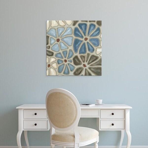 Easy Art Prints Karen Deans's 'Tiled Petals I' Premium Canvas Art